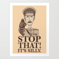 Stop That! Art Print