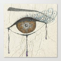 Sad Eye Canvas Print