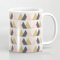 Gold + Black + Pink Mountains Mug