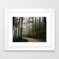 Prairie Creek Road Framed Art Print