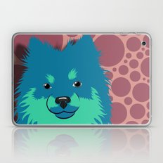 Olie the Pomeranian in Blue Laptop & iPad Skin