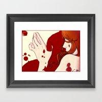 Blood Floor Framed Art Print