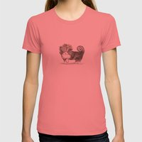 Fancy Pup Womens Fitted Tee Pomegranate SMALL