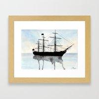 HMS Victory Watercolour Framed Art Print