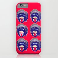 iPhone & iPod Case featuring 6 Queen Kongs by justlikeandy.co.uk Andy Warhol-style