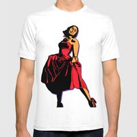 Happiness In A Red Dress Mens Fitted Tee White SMALL