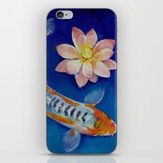 Koi Fish and Lotus iPhone & iPod Skin