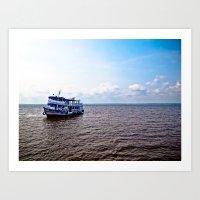 Amazon River Boat Art Print