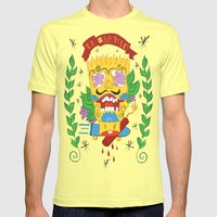 EAT MY SHORTS Mens Fitted Tee Lemon SMALL