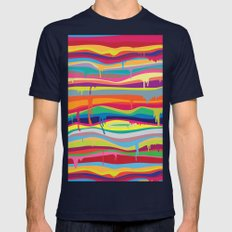The Melting Mens Fitted Tee Navy SMALL