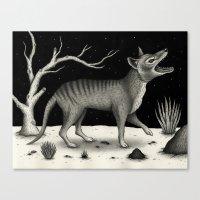 Thylacine (Tasmanian Tiger) Canvas Print