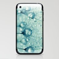 iPhone & iPod Skin featuring Sparkling Dandy Drops by Sharon Johnstone