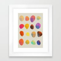 Painted Pebbles 4 Framed Art Print