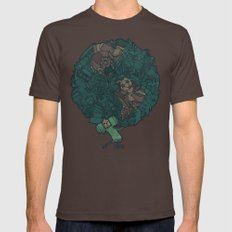 Prince Atlas Mens Fitted Tee Brown SMALL