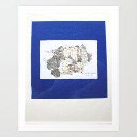 Des Königs Blau Art Print