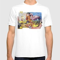Friends´s Meeting Mens Fitted Tee White SMALL