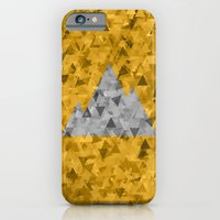 iPhone Cases featuring Monochrome Mountain by Lorcy