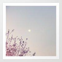 Dreamy Moon Art Print