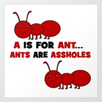 A is For Ant Art Print