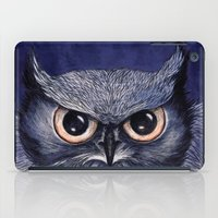 La Sagesse du Hibou (The Blue Owl) iPad Case
