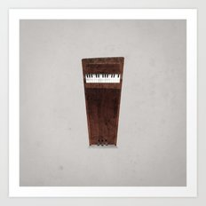 Lonely Piano Art Print