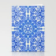 Cobalt Blue & China Whit… Stationery Cards