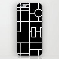 PS Grid Black iPhone & iPod Skin