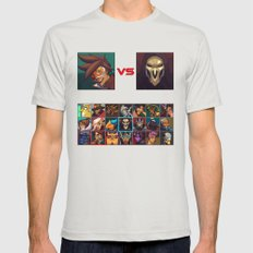 Select your Character! Mens Fitted Tee Silver SMALL