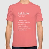 Askhole Mens Fitted Tee Pomegranate SMALL