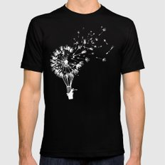 Going where the wind blows SMALL Black Mens Fitted Tee