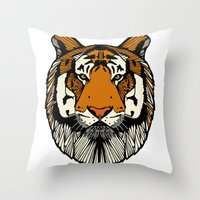 Tiger Throw Pillow