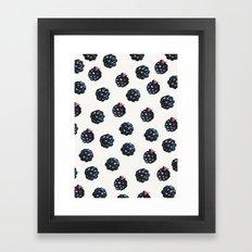 Blackberries pattern Framed Art Print