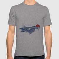 Olympic Swimmer  Mens Fitted Tee Athletic Grey SMALL