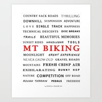 MOUNTAIN BIKING Art Print