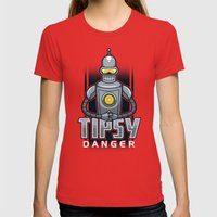 Tipsy Danger Womens Fitted Tee Red SMALL