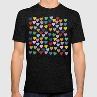 Hearts #3 Mens Fitted Tee Tri-Black SMALL
