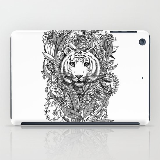 Tiger Tangle in Black and White iPad Case