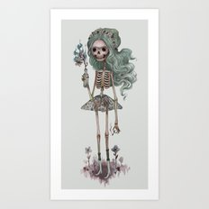 Grim Girlfriend Art Print