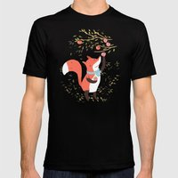 Fox Apple Picking Mens Fitted Tee Black SMALL