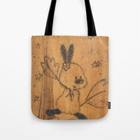 Cute Little Animal On Wo… Tote Bag