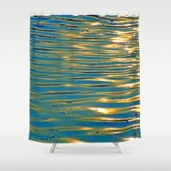 Gold Reflexion Shower Curtain