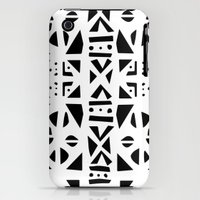 iPhone 3Gs & iPhone 3G Cases featuring Bogolan Monochrome by Madior Sow-ouakara