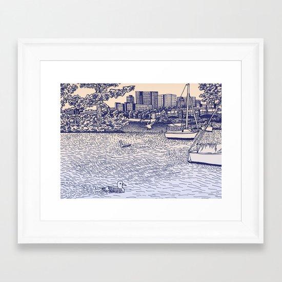 Charles River Esplanade Framed Art Print