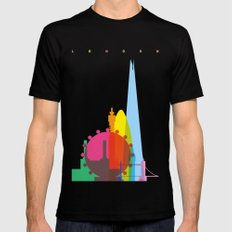 Shapes of London. Accurate to scale Mens Fitted Tee Black SMALL