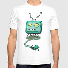 Edna TV Mens Fitted Tee SMALL White