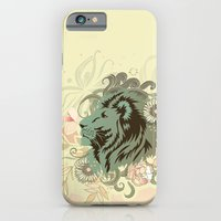 iPhone Cases featuring Proud Lion tangle by /CAM