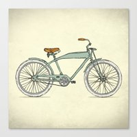 Retro-bicycles (1903) Canvas Print