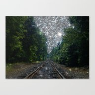 Train Tracks Dream Canvas Print