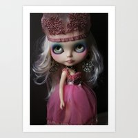 Pink Custom Blythe Darling Diva Art Doll Art Print