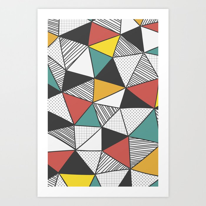 Sunday's Society6 | Colorful triangle pattern